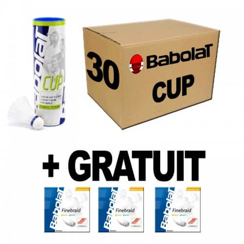 Babolat Cup x30 + 3 garnitures Finebraid offertes