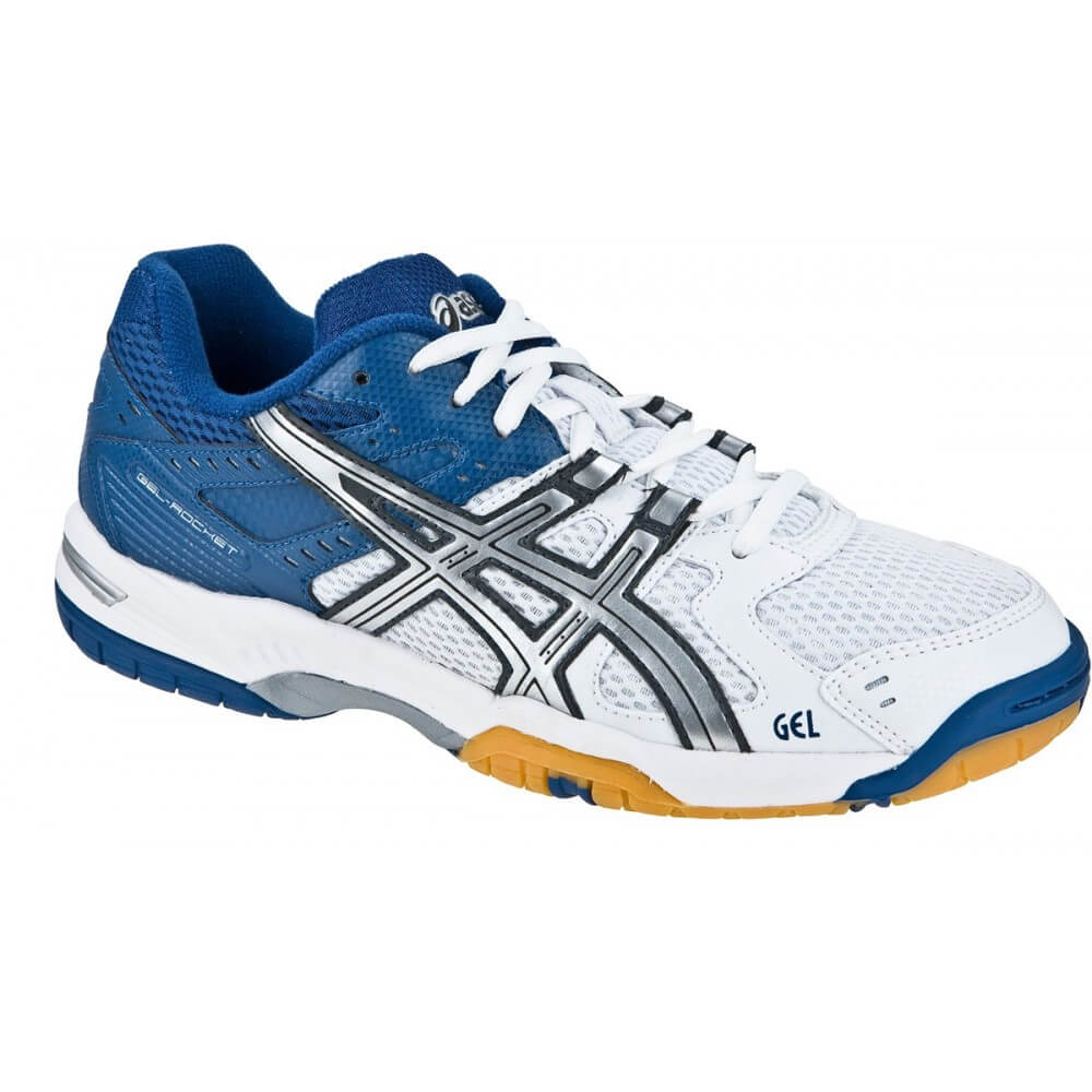 Asics Gel Rocket Women White Blue (Blanche Bleue) - plusdebad.com ... d999e16ead49