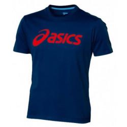 Asics Tee Shirt Men Logo Bleu marine/Rouge