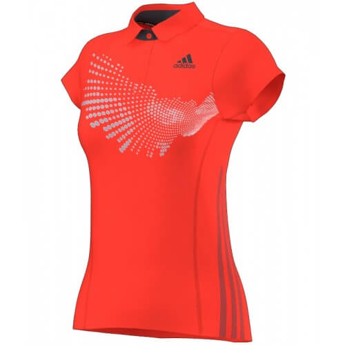 Adidas Polo Women BT Graph Red Solar