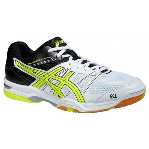 Asics Gel Rocket 7 Men White Flash Yellow