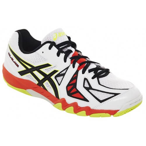 Asics Gel Blade 5 White Black Tomato