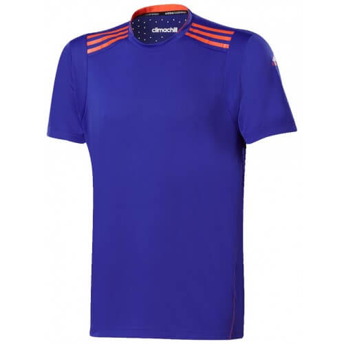 Adidas Clima Chill Tee Shirt Men Blue