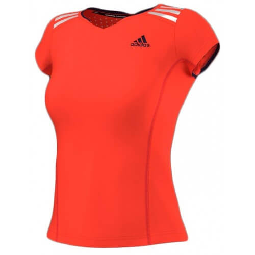 Adidas Clima Chill Tee Shirt Women Red