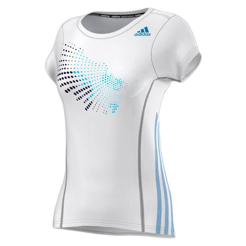 Adidas Graphic Tee Shirt Women Ice White