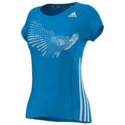Adidas Tee Shirt Graphic Women Solar Blue