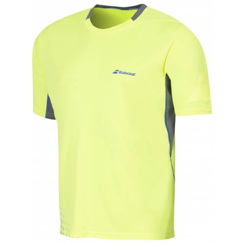 Babolat T-Shirt Crew Neck Men Perf 2016 Jaune