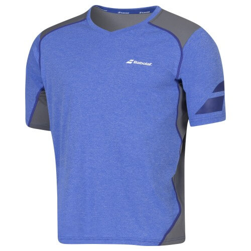 Babolat T-Shirt V-Neck Men Perf 2016 Bleu