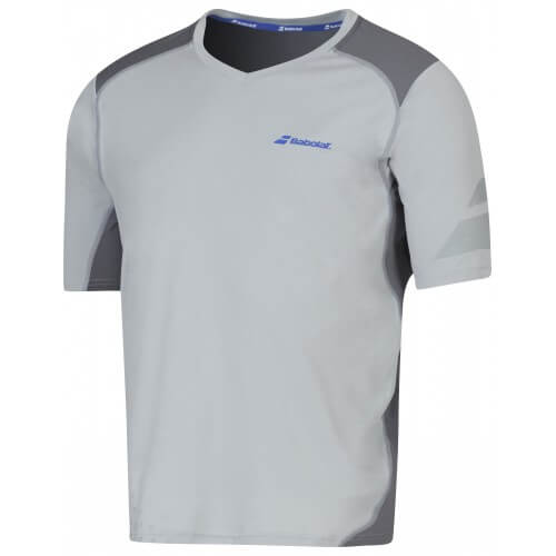 Babolat T-Shirt V-Neck Men Perf 2016 Gris