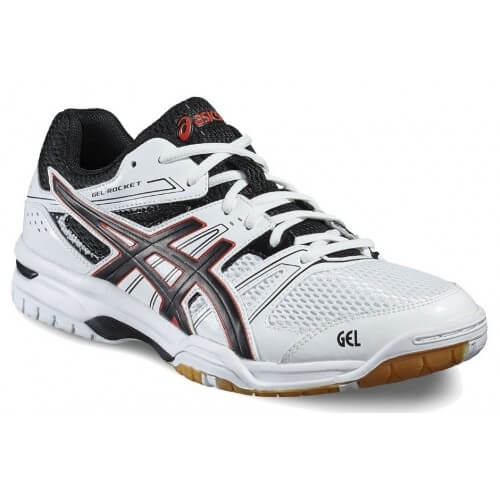 Asics Gel Rocket 7 Men White Black Vermillon
