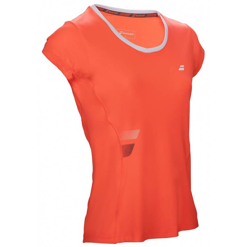 Babolat Flag Core Club Tee Women Rouge Fluo