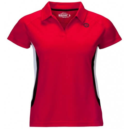 Oliver Polo Mexico Women Red Black