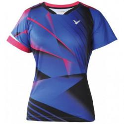 Victor Tee Shirt T 6105 Women Blue Pink
