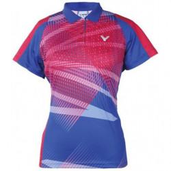 Victor Tee Shirt S1 6104 Women Blue Pink