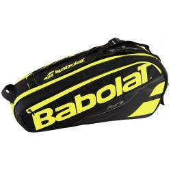 Babolat Racket Holder X6 Pure Black Yellow