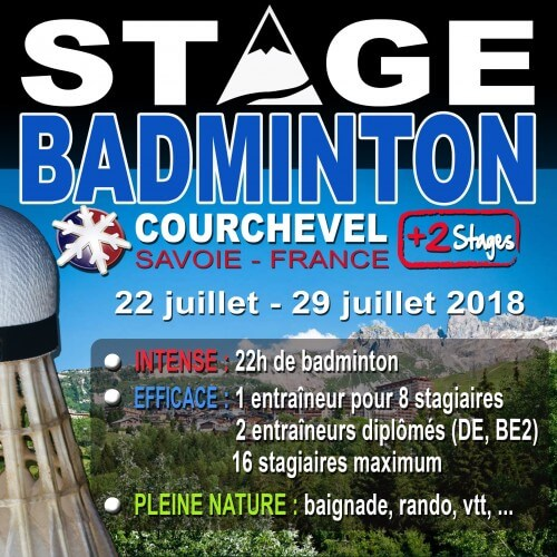 Stages Courchevel Eté 2018 (session 1)