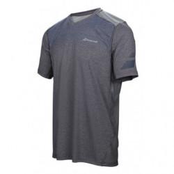 Babolat T-shirt V-neck Men Per F 2017 Bleu Chiné