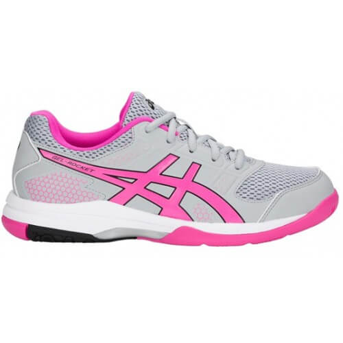 Asics Gel Rocket 8 Women Mid Grey Pink