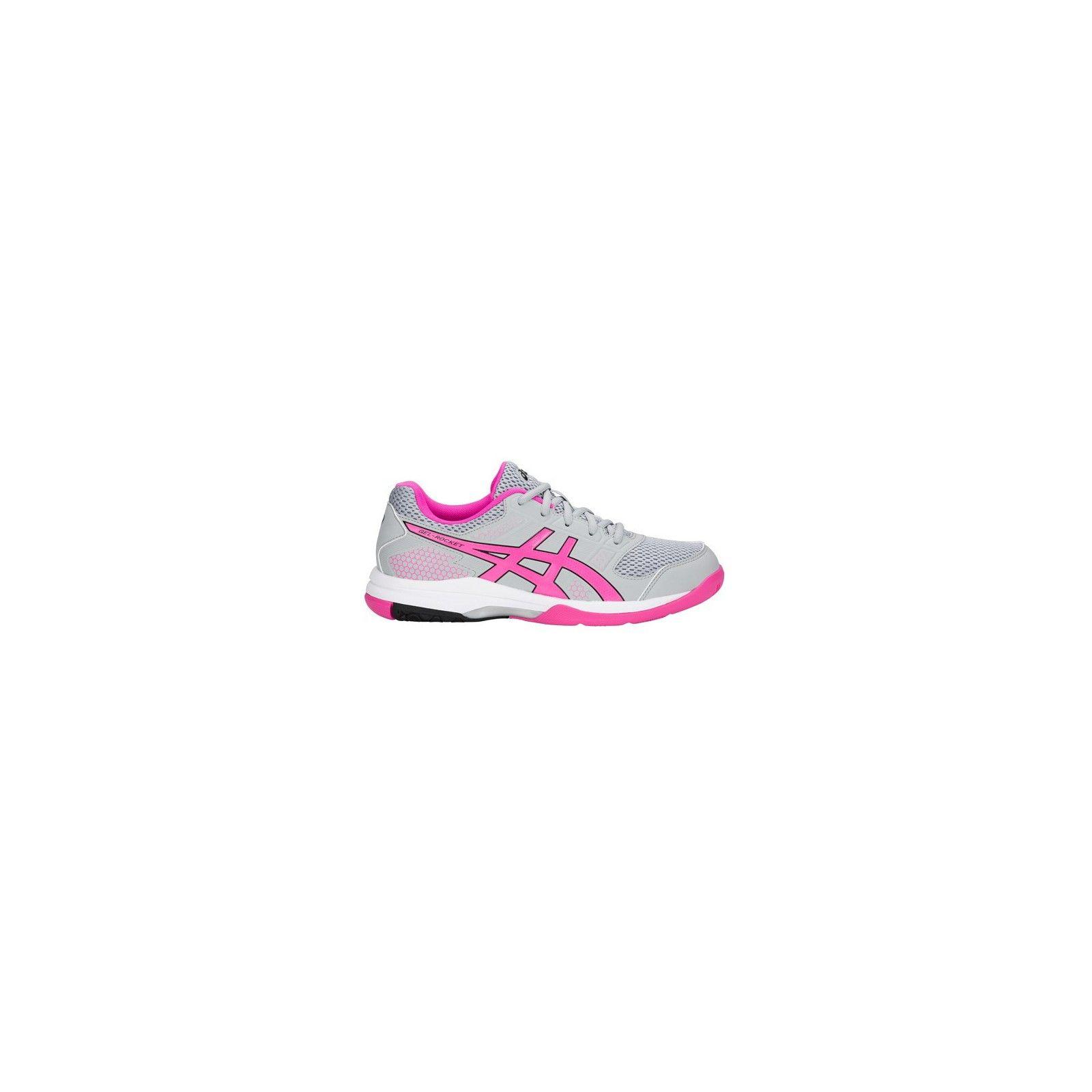 Asics Gel Rocket 8 Women Mid Grey Pink