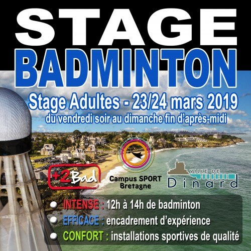 Stage Adultes Dinard 23/24 Mars 2019