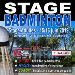 Stage Adultes Boulouris 15/16 Juin 2019