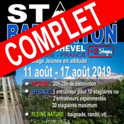 Stage Jeunes Courchevel 11/17 Aout 2019