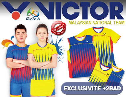Textile Victor Malaysian National Team Rio 2016