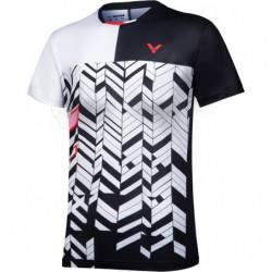 Victor T-shirt T-11007 C Women Black White