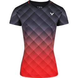 Victor T-shirt T-14100 C Women Black Red