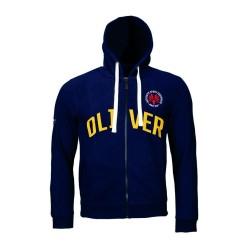 Oliver Authentic Hooded Jacket Darkmarine Logo