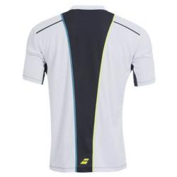 Babolat Tee-Shirt Match Perf Boy 2015 Blanc dos