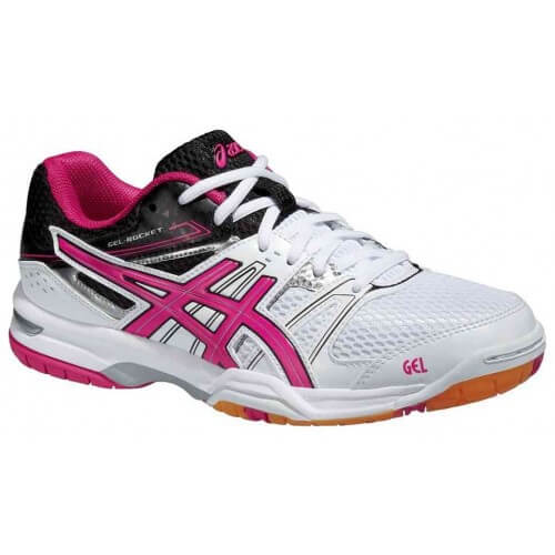 Asics Gel Rocket 7 W White Magenta Black
