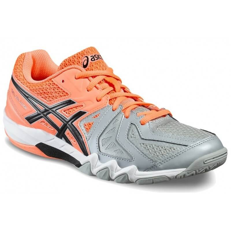 Asics Gel Blade 5 Women Coral Black Grey
