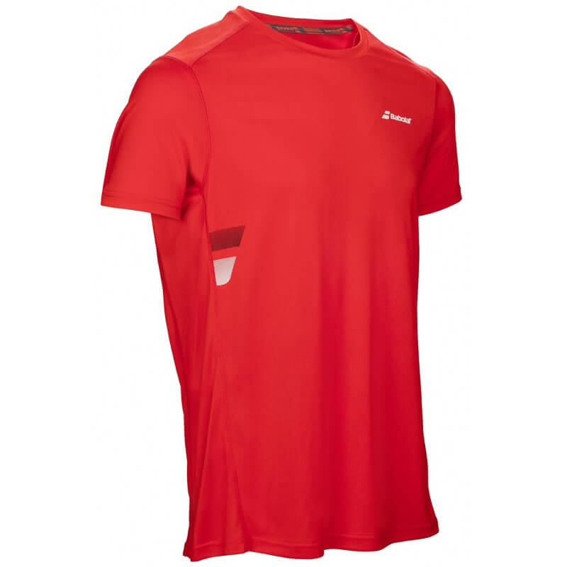 Babolat Flag Tee Core Club Men Rouge Fluo