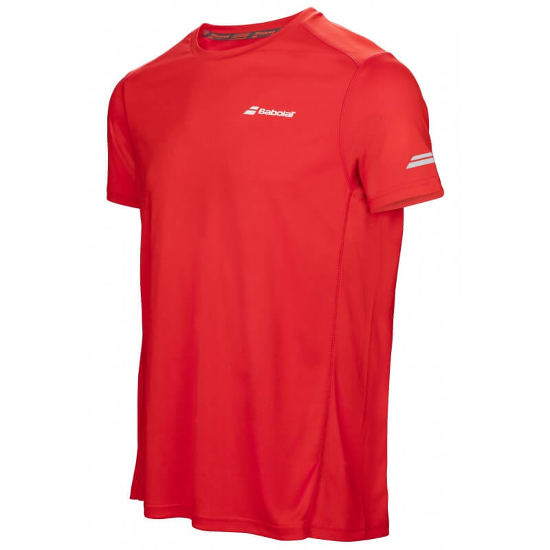 Babolat Flag Tee Core Club Boy Rouge Fluo