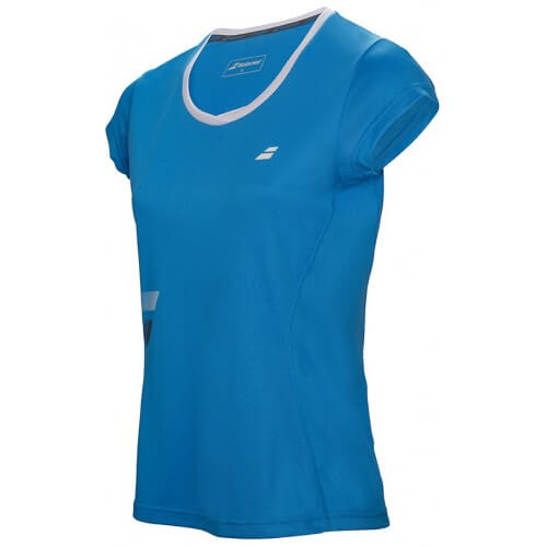 Babolat Flag Core Club Tee Girl Bleu