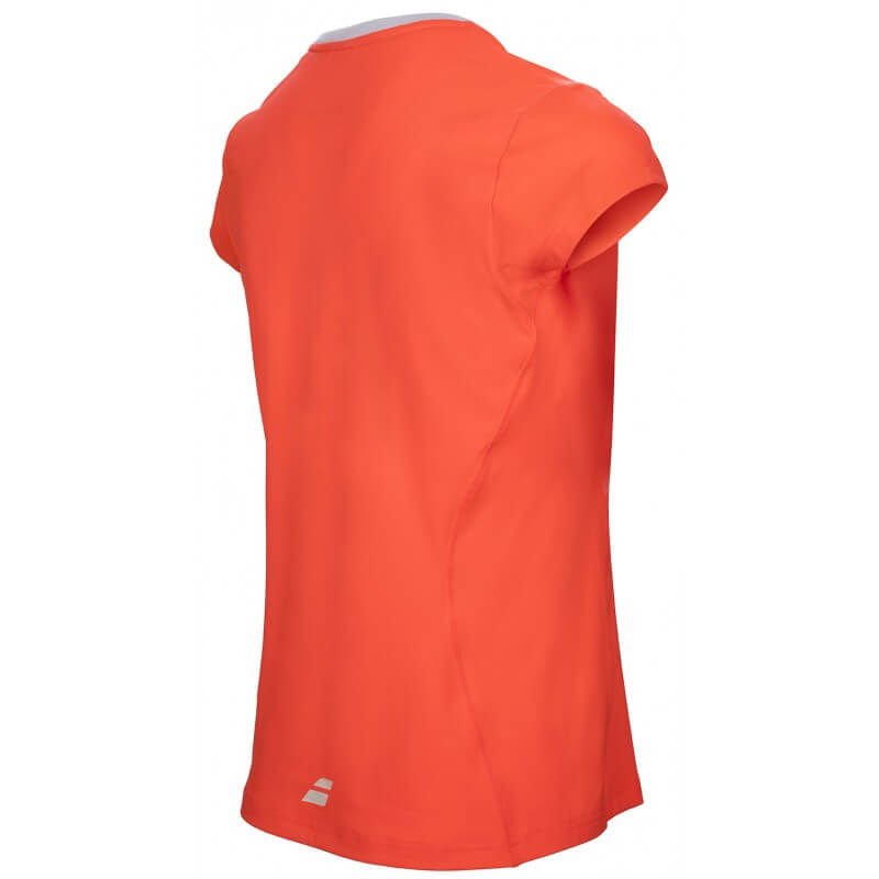 Babolat Flag Core Club Tee Girl Rouge Fluo