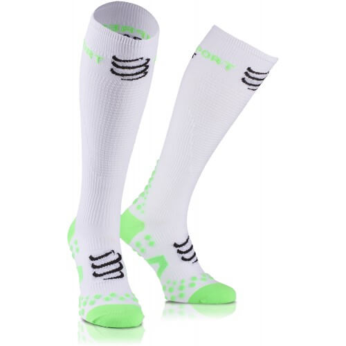 Compressport Racket Full Socks White Green