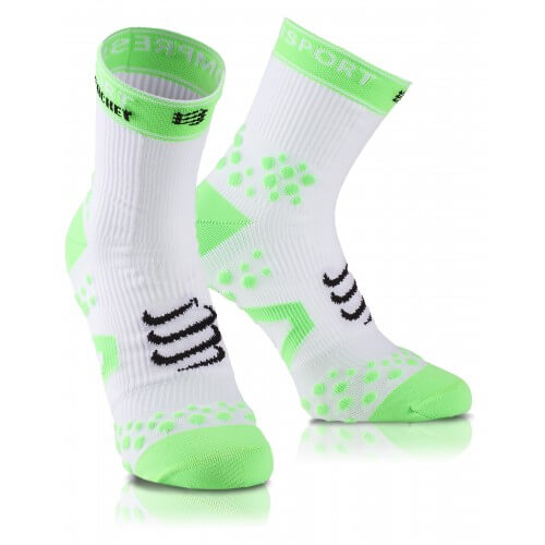 Compressport Racket Strapping Sock White Green