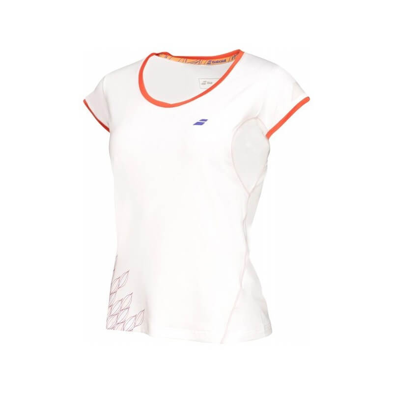Babolat Cap Sleeve Perf 2016 Women White Orange