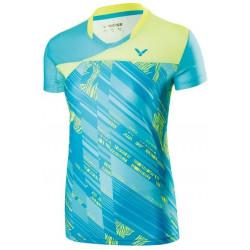 Victor Tee Shirt Women 71000 Blue Green
