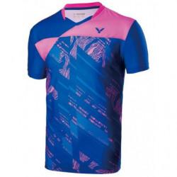Victor Tee Shirt Men 70000 Blue Pink