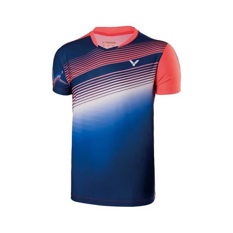 Victor Tee Shirt Men 70003 Blue Orange