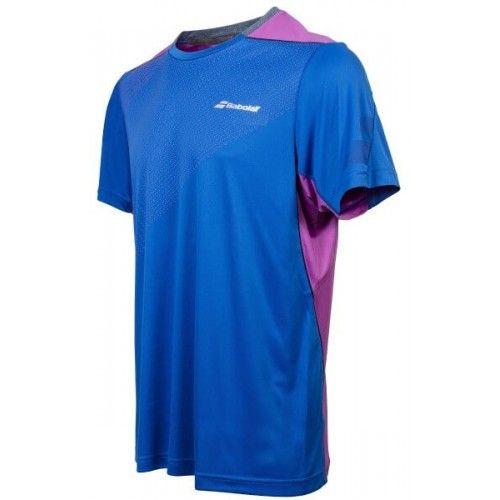 Babolat T-shirt Crew Neck Men Perf 2017 Bleu Nautilus