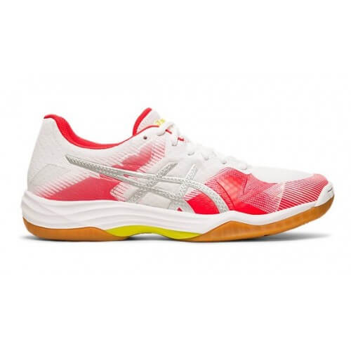 Asics Gel Tactic Women White Silver