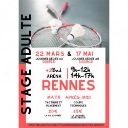 Stage Adulte Rennes 22 Mars et/ou 17 Mai 2020