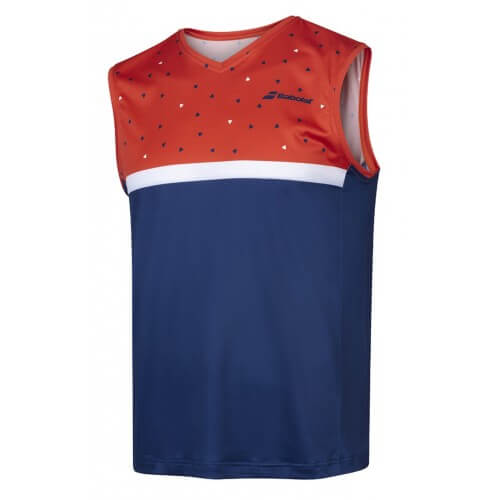Babolat Compete Muscle Tank Men Pureed Pumpkin Blue