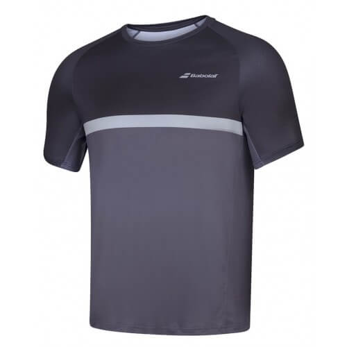 Babolat Compete Crew Neck Tee Men Black Magnet