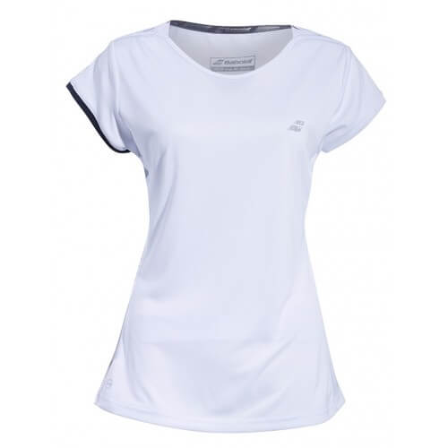 Babolat Cap Sleeve Top Women 2019 White Silver
