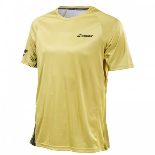 Babolat Crew Neck Perf 19 Men Dark Yellow